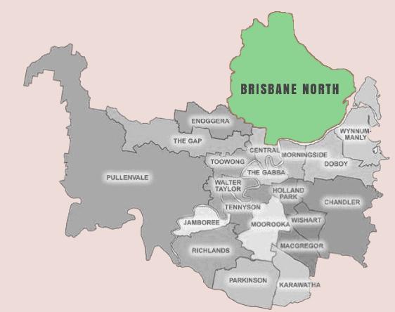 brisbane north map